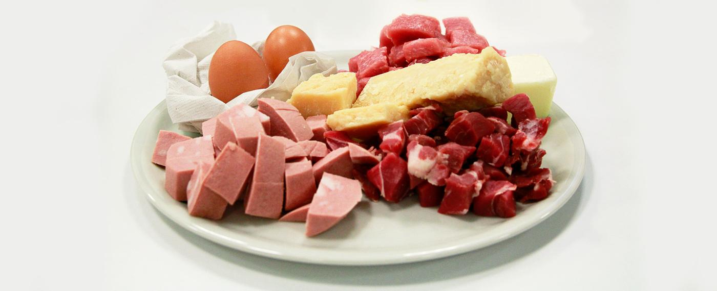 Ingredienti per il ripieno dei tortellini